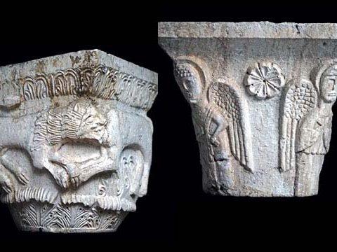 Capitelli ritrovati esposti al Museo del Cicolano